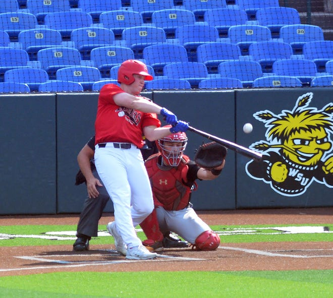 Newton Rebel Cory Mason drove in four runs and hit a home run in a 21-11 win over the Sunflower Seeds.