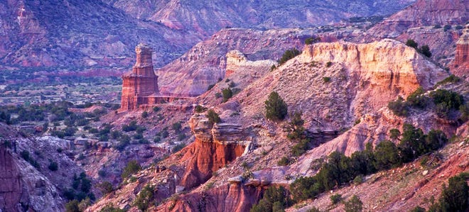 Pictured is Lighthouse Peak in Palo Duro Canyon State Park. The park was recently named among the top 10 campsites in the U.S. by The Dyrt, a top camping app.