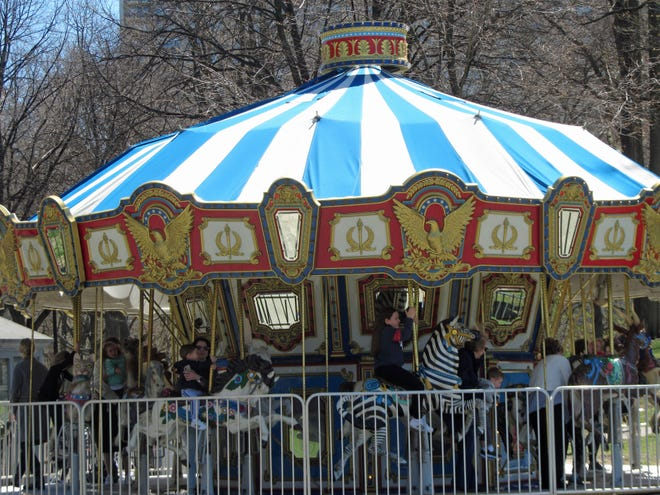 The carousel in the Boston Common is now open and ready for fun.