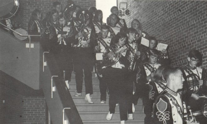 Pictures of the Past is from the 1970 Lincoln Community High School yearbook. The photo shows the LCHS band heading to the Homecoming Parade.