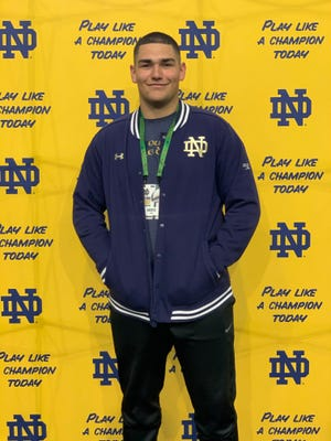 Saint Peters (Mo.) Lutheran's Gabriel Rubio, a four-star defensive tackle in the 2021 recruiting class, verbally committed to Notre Dame on June 15, 2019.