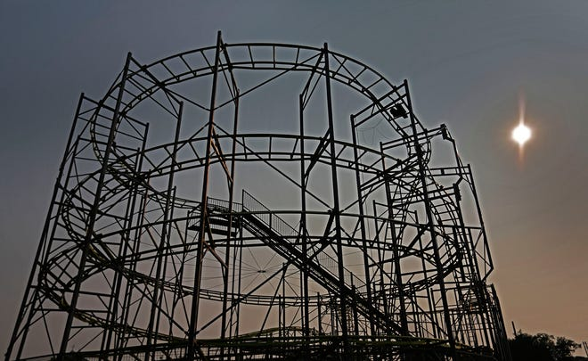 The roller coaster at the Marshfield Fairgrounds will be ready to roll on time for the fair in August.