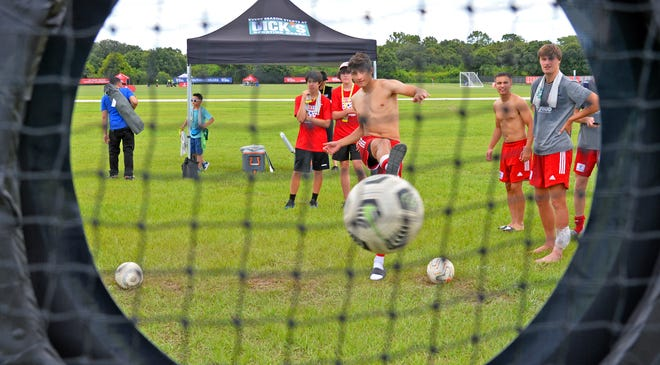 U.S. Youth Soccer is holding its national championship at Premier Sports Campus this week in the Lakewood Ranch area. Some of the youth soccer players practice for fun after a game.