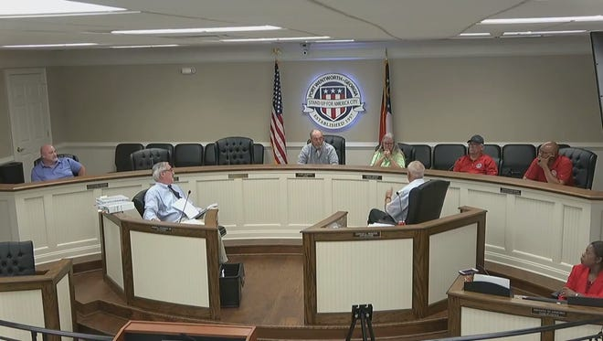 Port Wentworth city council discuss contract with ClearWater Solutions, LLC.