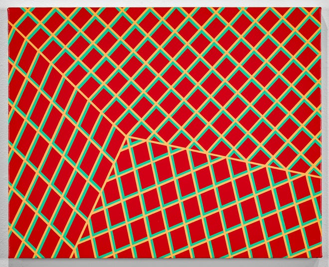 """Scott Malbaurn's """"Untitled Grid,"""" 2020. One of the pieces that will be on display at Liberty Arts in Yreka as part of the """"Playing Nice"""" exhibit in 2021."""
