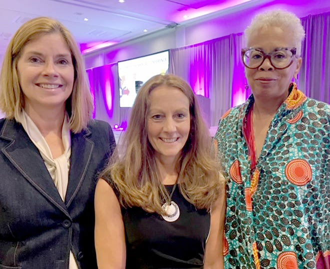 Kathy Griffin, center, administrator for St. Joseph County circuit and probate courts, is joined by Michigan's Chief Justice Bridget McCormack and Michigan Court of Appeals Judge Cynthia Stephens at National Association for Court Management's annual conference in San Diego.