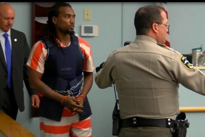 Jamie Coleman at his first court appearance in 2019.