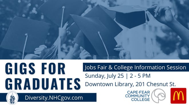 'Gigs for Graduates' jobs fair and college information session will be held Sunday, July 25.