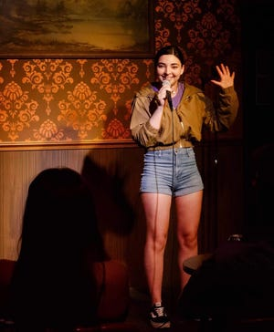 Topeka native Claire Sundbye performs standup in Chicago where she is living now. Sundbye and other comedians will perform at 7:30 p.m. July 31 at the Jayhawk Theatre.