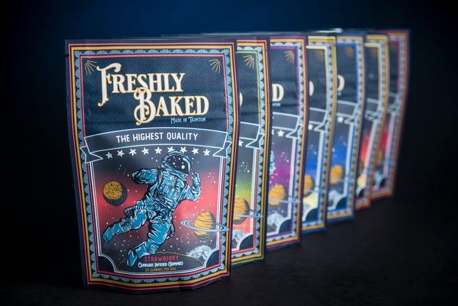 Freshly Baked Company produit plusieurs saveurs de bonbons gélifiés au cannabis.