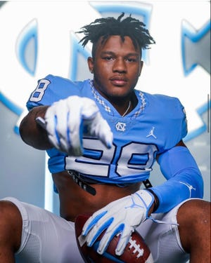 Four-star 2022 Cleveland High School running back Omarion Hampton, who verbally committed to UNC football over Florida and Penn State, ranks as the team's No. 2 all-time running back commit in the internet recruiting era. He is also the sixth four-star commit in the Tar Heels' recruiting class of 2022 and third in-state four-star commit (Shelby edge Malaki Hamrick, Leesville Road edge Beau Atkinson).