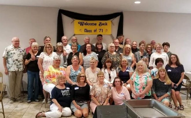 The Springs Valley High School class of 1971 donated $350 to the Springs Valley Education Foundation during the July 9-11 Alumni Weekend celebration. The class also celebrated its 50th anniversary.