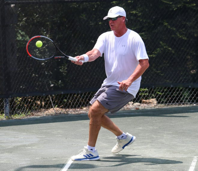 Glen Akins is scheduled to pair with former Tuscaloosa City Council president Cynthia Lee Almond in NorthRiver Yacht Club's annual Jackson-Evans tennis tournament. [Photo/Hannah Saad]