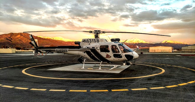 Two San Bernardino County Sheriff's Aviation teams hoist-rescued six hikers suffering from dehydration in the Deep Creek Hot Springs area on Saturday, July 17, 2021.