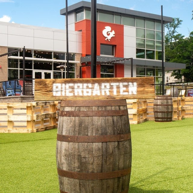 Mighty Squirrel Brewing Co. opened their biergarten in April. It cost roughly $160,000 to create.