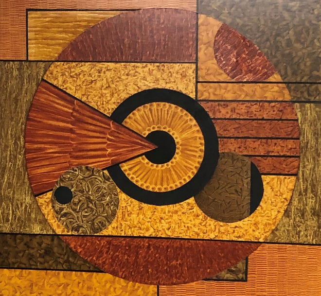 """Newburyport Art Association announced the opening of two new exhibitions, including """"The Abstract Artists Group of New England."""" Pamela A. Bearor-Amiralian's """"Running In Circles."""""""