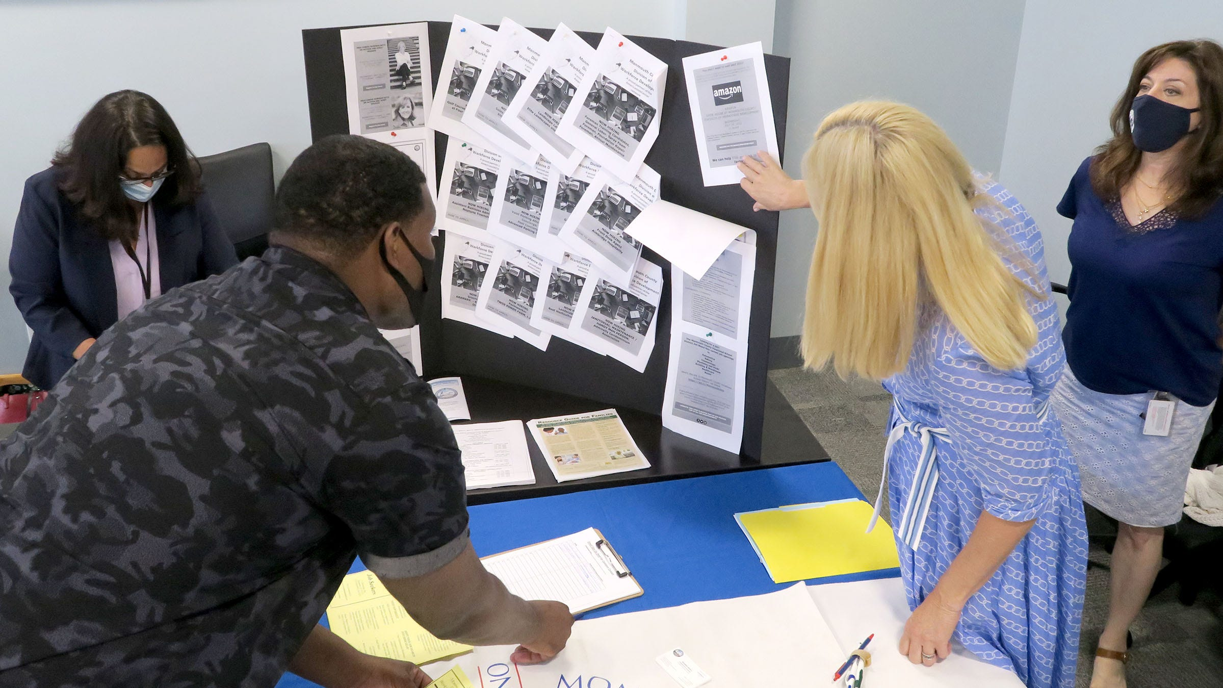 Monmouth County and the New Jersey Courts held a job fair in Ocean Township Tuesday, July 20, 2021, for people on probation in a bid to give workers a second chance and help local employers, pressed during a labor shortage, to find employees.