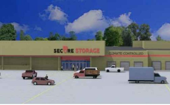 A rendering of the Secure Storage facility proposed for the former Shopko building on North Central Avenue.