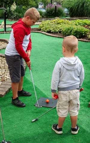 The miniature-golf course located next to Der Dutchman Restaurant will celebrate its grand re-opening this Friday.