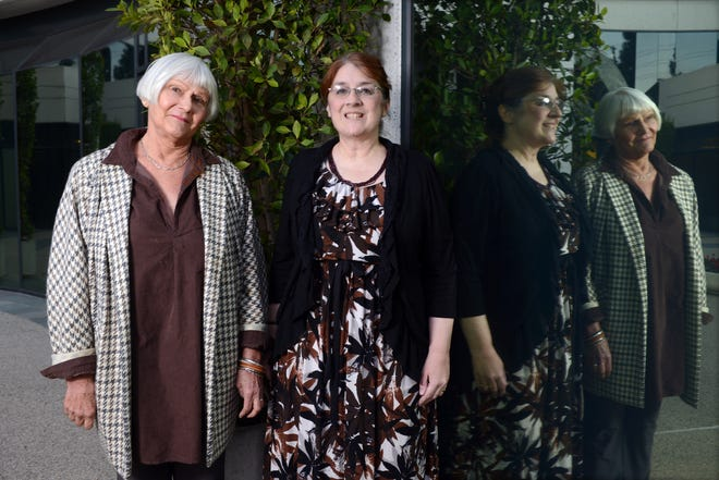 CANCER Susan Preston-Martin, white hair, and Suzanne Nelson are cancer survivors who have taken Afinitor.  Preston-Martin no longer takes it, Nelson still does.  They are attending a support group at The Cancer Support Community in Los Angeles Tuesday evening, 12/1/15.  Photo for The Milwaukee Journal Sentinel  by Axel Koester, 12/01/15.