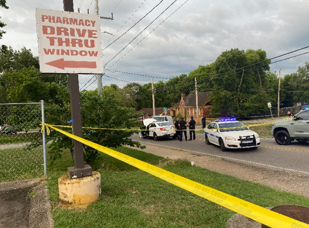 Emergency responders on scene of a shooting involving police on July 19, 2021 in which three people were injured in Madison.