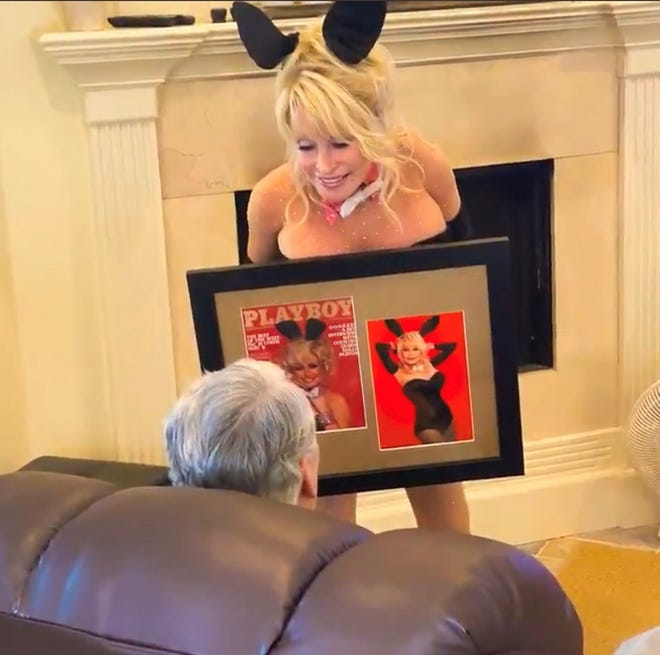 Dolly Parton sent the social media world into an happy spiralon July 20, 2021 when the country superstar dressed up like a Playboy bunny (ears, bow-tie and all) and wished her hubby a very happy birthday.