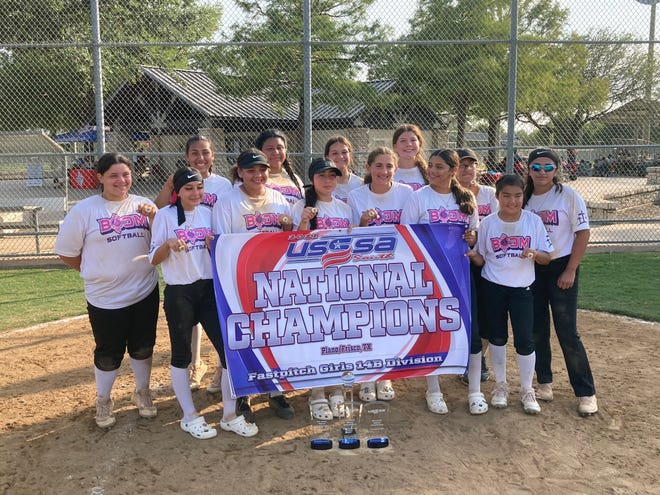 The Las Cruces 14-under Boom softball team won the USSSA Southwest National Championship in Plano, Texas.