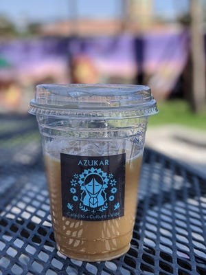 Horchata cold brew and patio sippin' at Azukar coffee shop in Phoenix on Oct. 4, 2020.