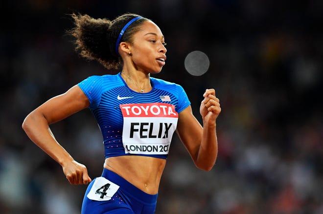 En la imagen, la velocista estadounidense Allyson Felix, la atleta más condecorada en la lista con nueve medallas olímpicas.