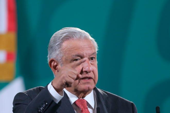 El presidente de México, Andrés Manuel López Obrador, ofrece una rueda de prensa matutina hoy, en el Palacio Nacional de Ciudad de México (México).