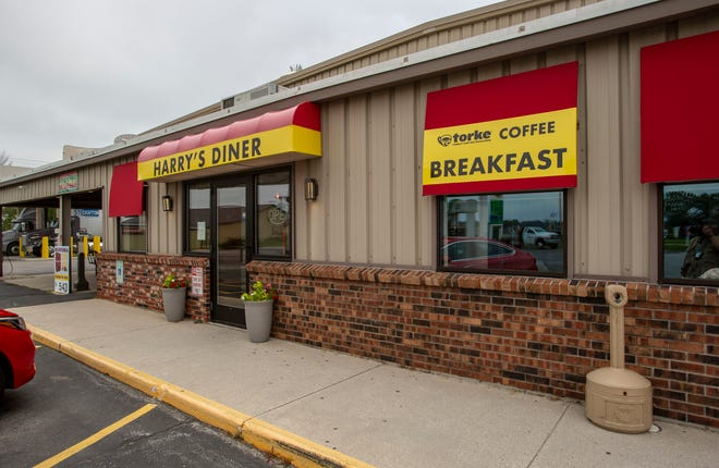 The exterior of Harry's Diner at Interstate Plaza as seen, Tuesday, July 20, 2021, in Sheboygan, Wis.