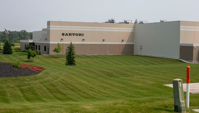 The exterior of the Sartori facility on county Road PP as seen, Tuesday, July 20, 2021, in Plymouth, Wis.
