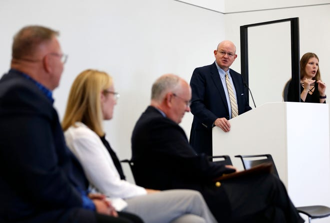On July 20, OTC Chancellor Hal Higdon and leaders from other Springfield area colleges encouraged students, staff and faculty to get the COVID-19 vaccine at a press conference.