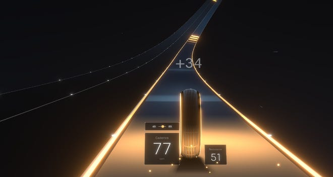 A screenshot of the game Lanebreak made by Peloton.