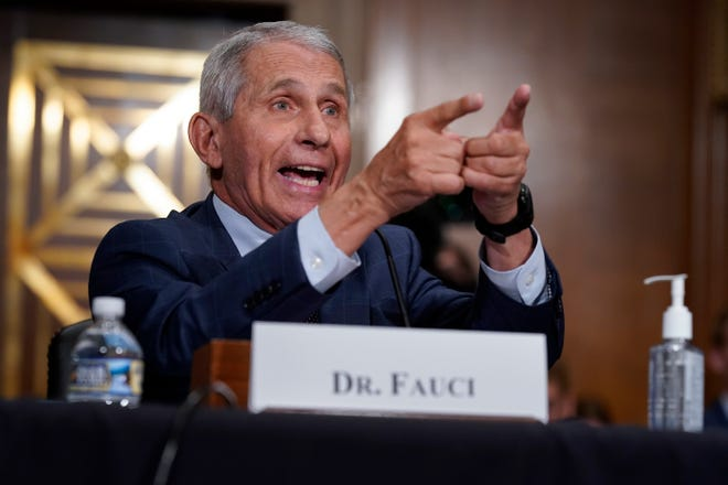 Top infectious disease expert Dr. Anthony Fauci responds to accusations by Sen. Rand Paul, R-Ky., as he testifies before the Senate Health, Education, Labor, and Pensions Committee about the origin of COVID-19 on Tuesday.