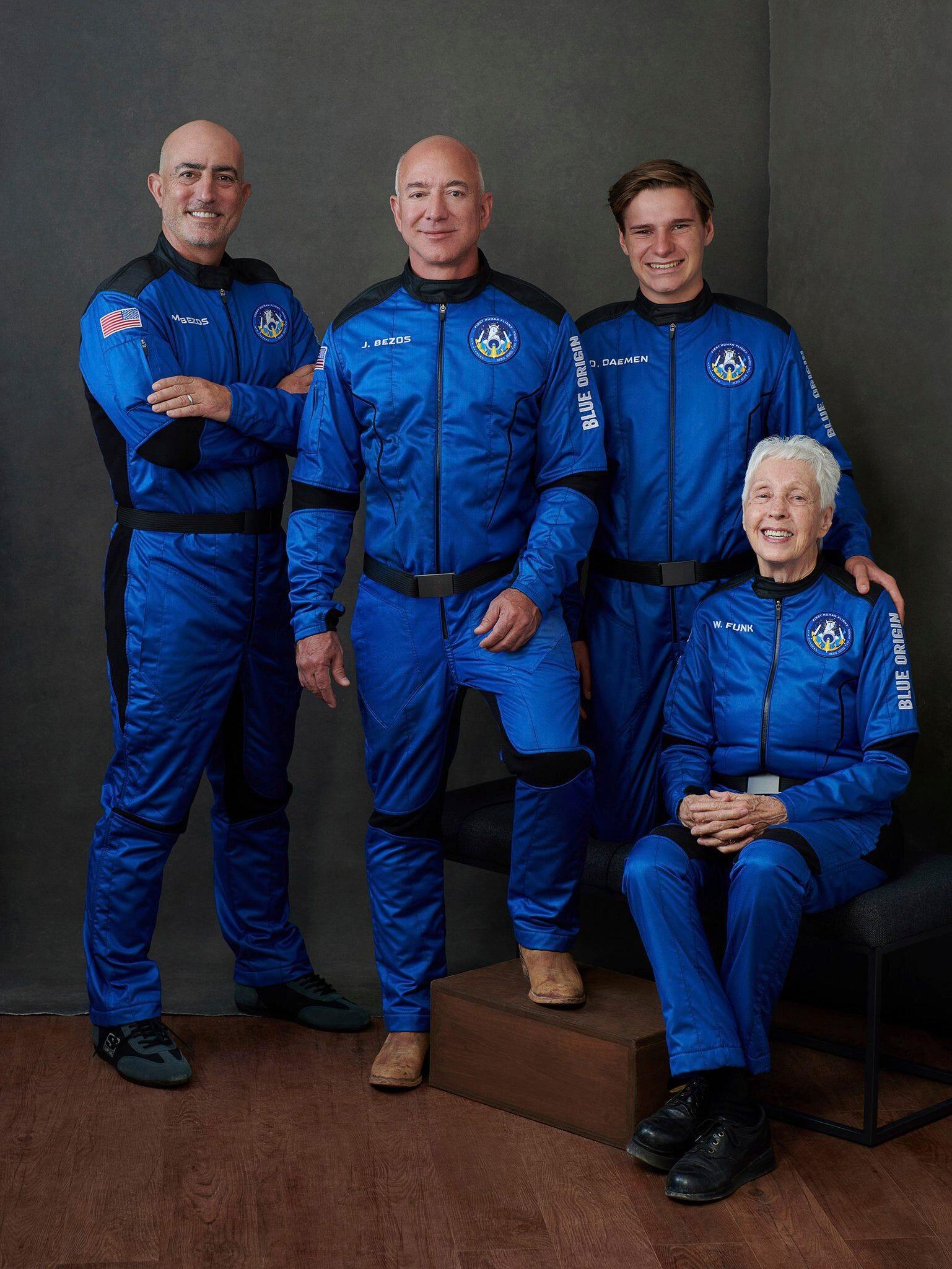 Jeff Bezos flies into space on Blue Origin astronaut's maiden flight