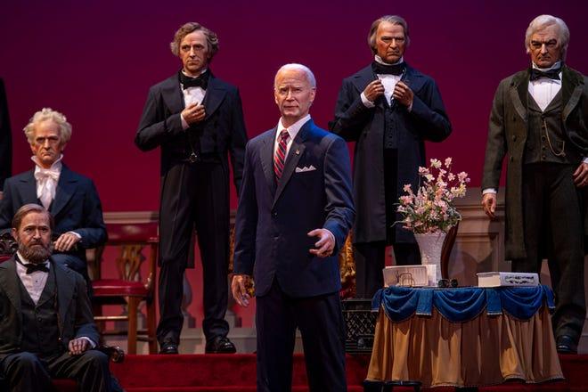 President Joe Biden is joining the Hall of Presidents in Liberty Square at Walt Disney World's Magic Kingdom.