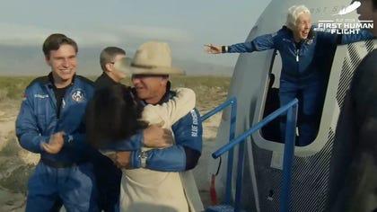 Jeff Bezos after Blue OOrigin flight