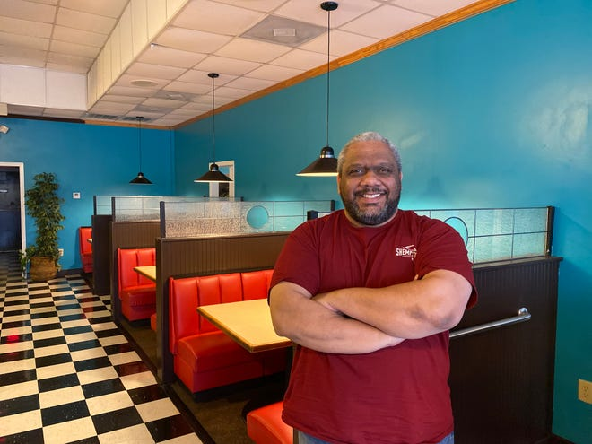 Kenny Barnes stands at his new restaurant, Shemp & Petey's Bistro, in Columbia County. The restaurant officially opened after the Fourth of July.