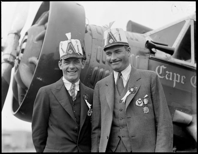 Boardman and Polando took off from NYC's Floyd Bennet Field on July 28, 1931and landed on July 30at Yesilkoy Airport in Istanbul, Turkey. Theirs was the first recorded transatlantic flight since Lindbergh's in 1927 and set a new non-stop distance world record.