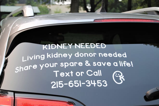Eager to get the word out in any way they can, engaged couple Joe Fitch and Wendy Cornell have messages on their vehicles letting people know of their search for a living kidney donor.