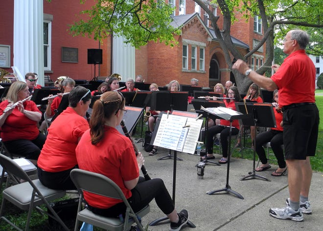 The Penn Yan Community Band, led by Jeff Stempien, will play a mix of marches, Dixie, Broadway and musical tunes, and jazz at the Aug. 4 Courthouse Park concert.