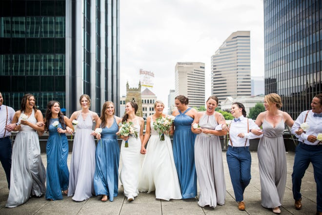Gender-affirming attire and mixed wedding party