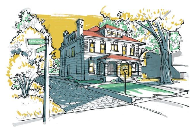 Illustration of 48 Parkwood Ave.