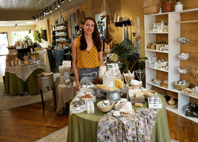 Michaela Holdridge owns Anthro Apothecary in downtown Tecumseh, which specializes in organic, ethically sourced teas, spices, and bath and body products.