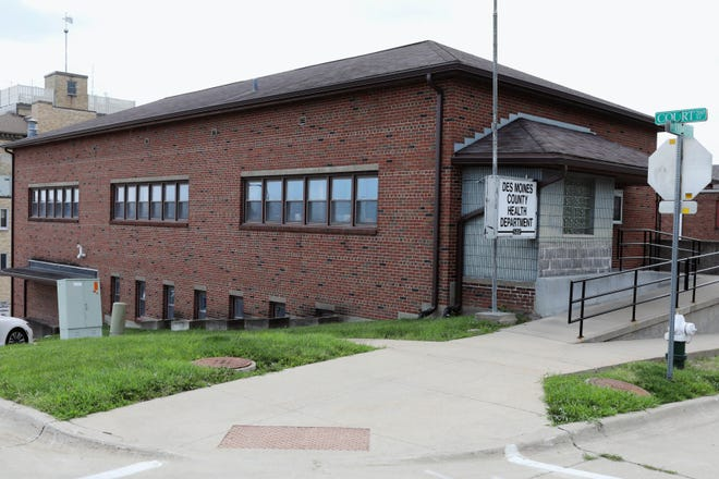 The Des Moines County Health Department building Wednesday July 21, 2021, at 522 N. 3rd St. in Burlington