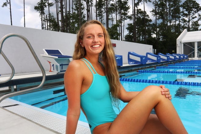 Clay's Sara Stotler is the Times-Union's All-First Coast girls swimmer of the year after winning the FHSAA 100-yard butterfly title.