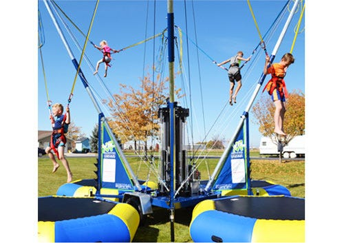 Euro bungees will be one of the many kids' events at the B-Town Hot Summer Night events Friday and Saturday at the Monroe County Fairgrounds.
