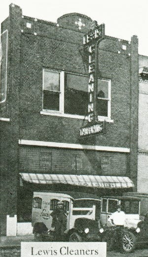Lewis Cleaners & Tailoring was a mainstay at 22 E. 1st from 1915 to 1930.