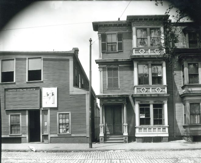 Here is Meridian Street as it was in 1890. Learn more at the Boston City Archives. Learn more at the Boston City Archives (https://cityofboston.access.preservica.com).